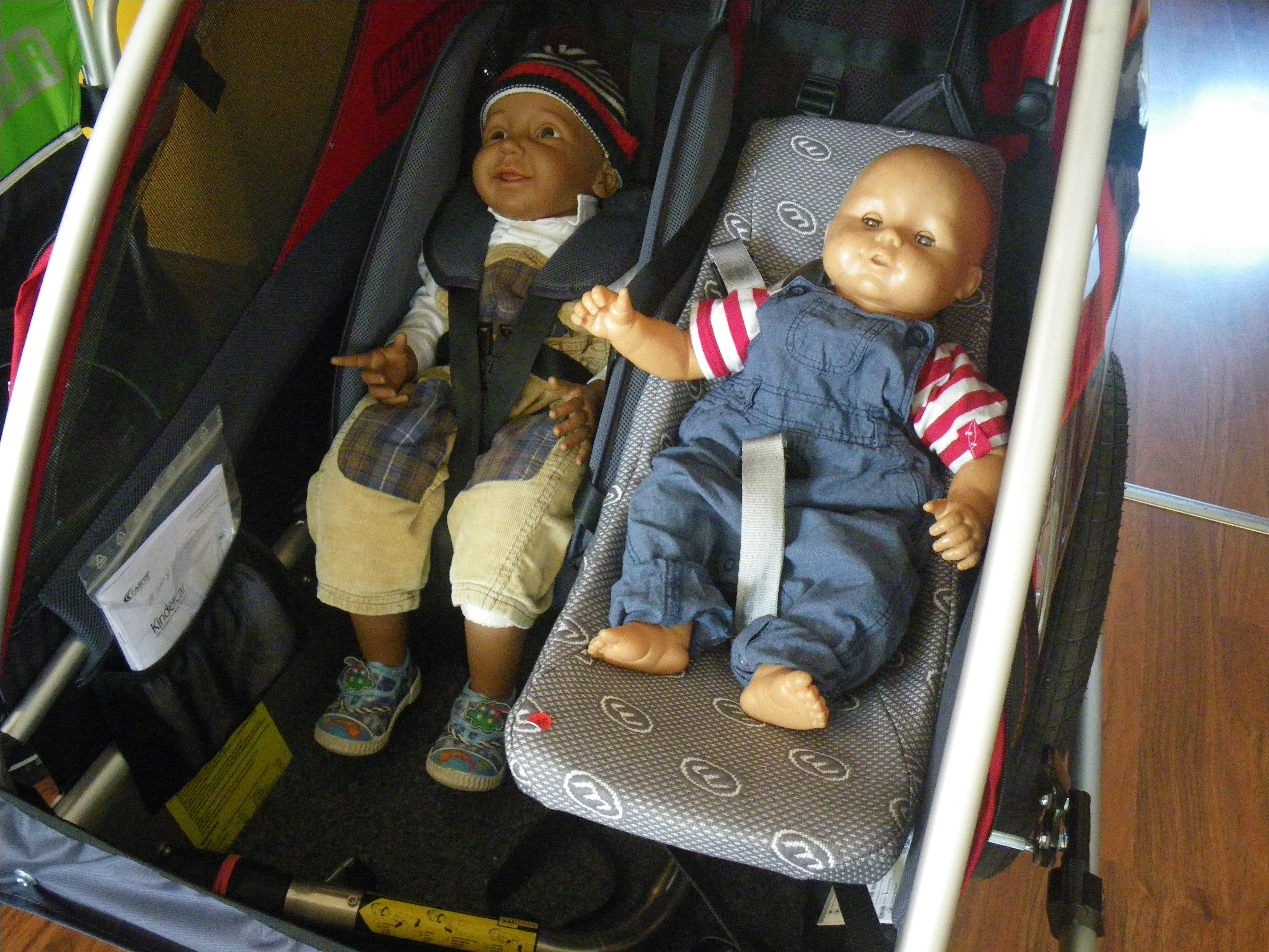 Transport Von Babys Und Kleinkindern Im Fahrradanhanger